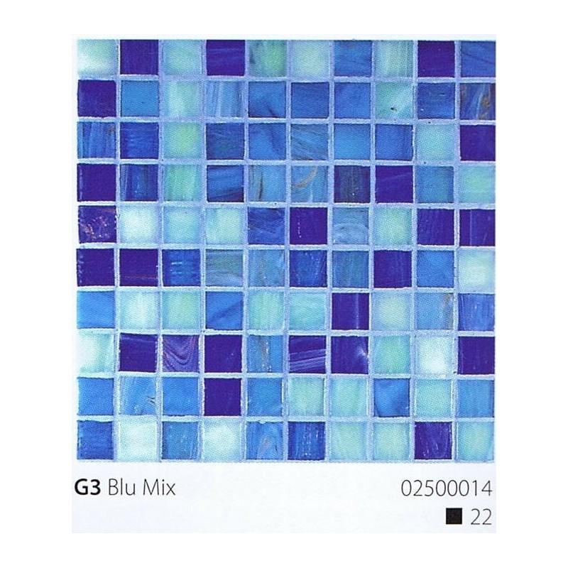 VITREX Skleněná mozaika 2x2cm G3 Blu Mix