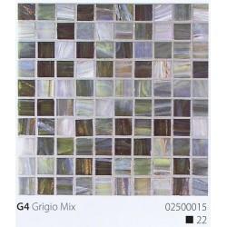 Skleněná mozaika 2x2cm G4 Grigio Mix