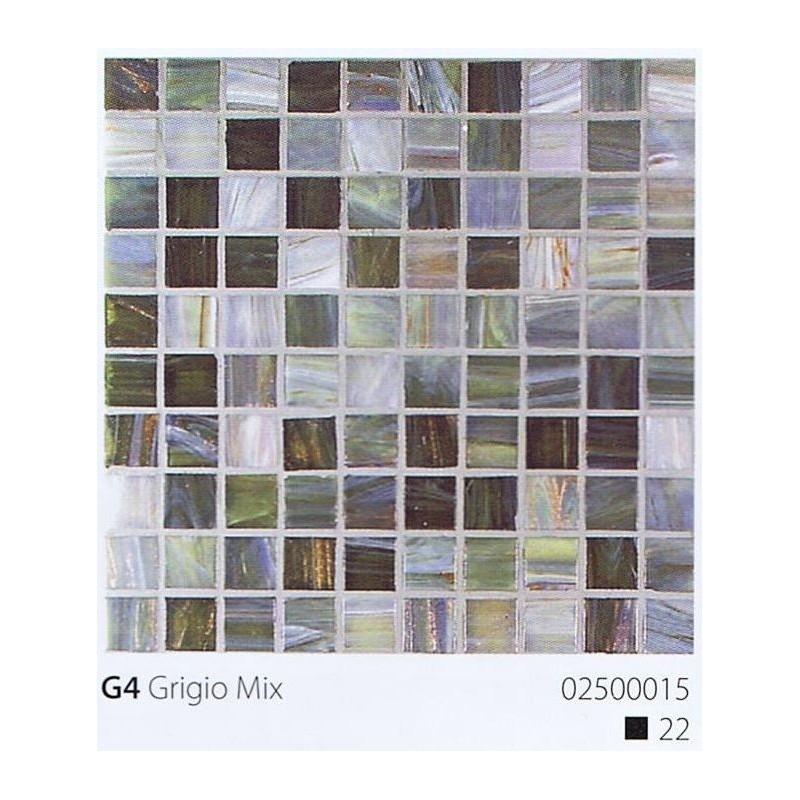 VITREX Skleněná mozaika 2x2cm G4 Grigio Mix