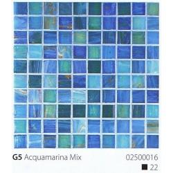 Skleněná mozaika 2x2cm G5 Aquamarina Mix