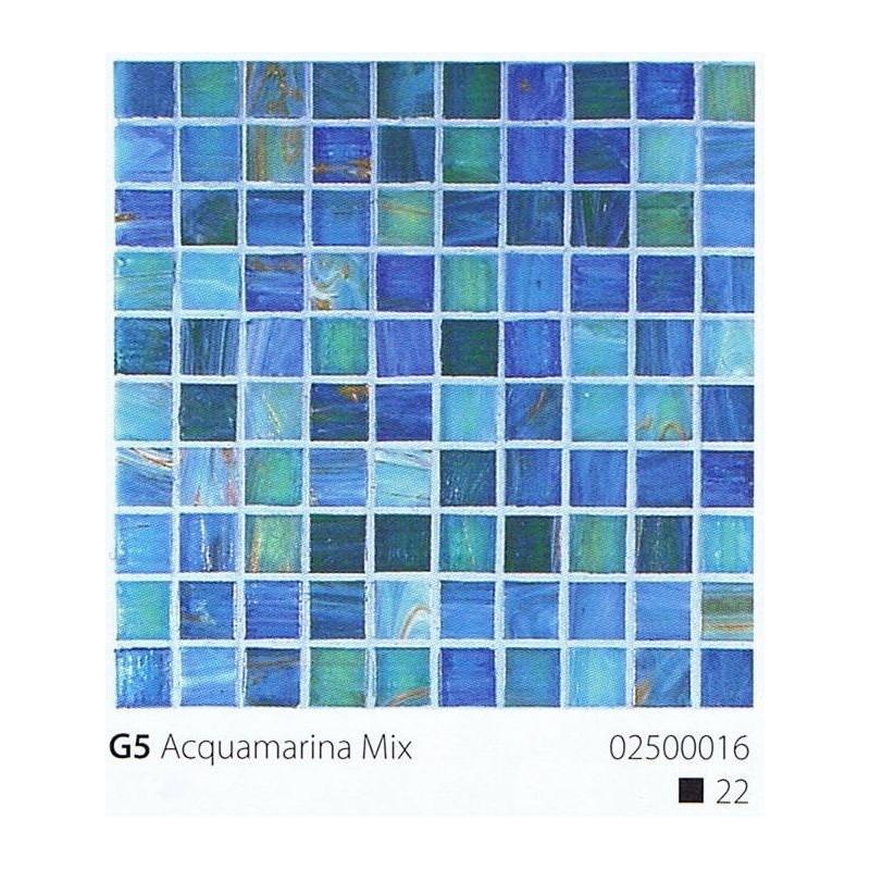 VITREX Skleněná mozaika 2x2cm G5 Aquamarina Mix