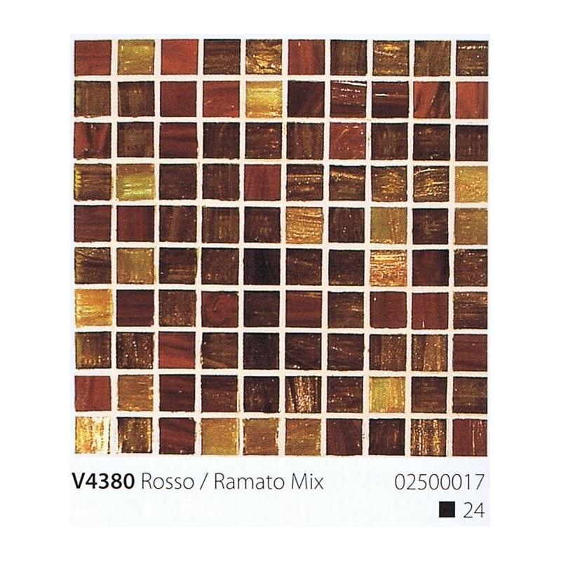 VITREX Skleněná mozaika 2x2cm V4380 Rosso / Romato Mix