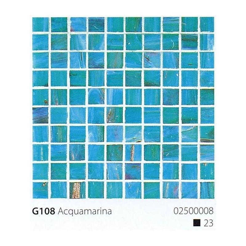 VITREX Skleněná mozaika 2x2cm G107 Acquamarina Scuro