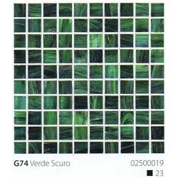 Skleněná mozaika 2x2cm G74 Verde Scuro