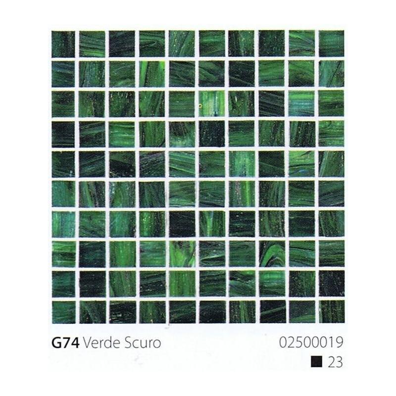 VITREX Skleněná mozaika 2x2cm G74 Verde Scuro