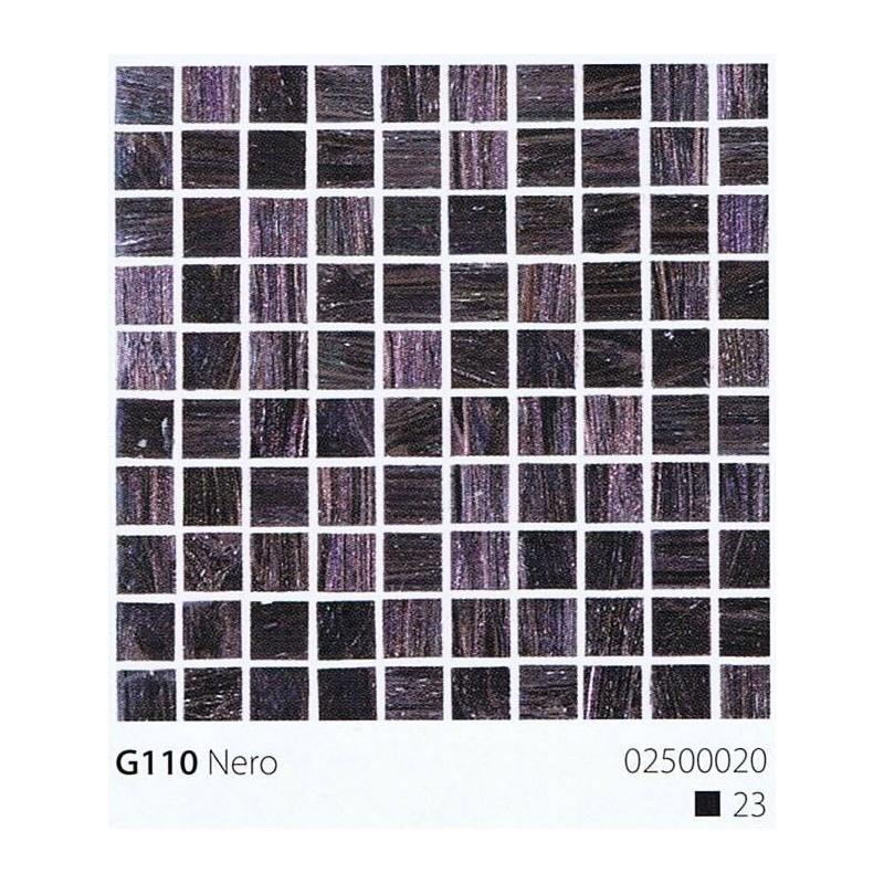 VITREX Skleněná mozaika 2x2cm G110 Nero