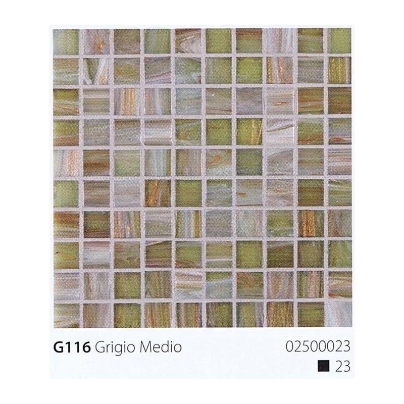 VITREX Skleněná mozaika 2x2cm G116 Grigio Medio