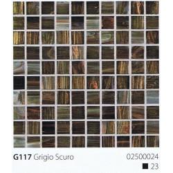 Skleněná mozaika 2x2cm G117 Grigio Scuro
