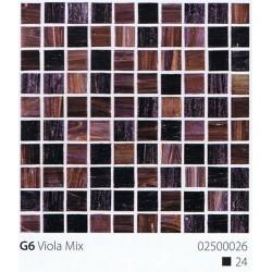 Skleněná mozaika 2x2cm G6 Viola Mix