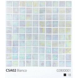 Skleněná mozaika 2x2cm CSA02 Bianco