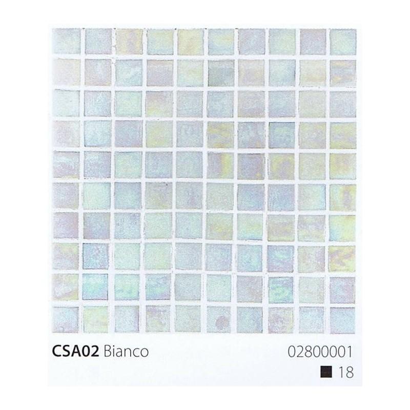 VITREX Skleněná mozaika 2x2cm CSA02 Bianco