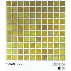Skleněná mozaika 2x2cm CSB60 Giallo