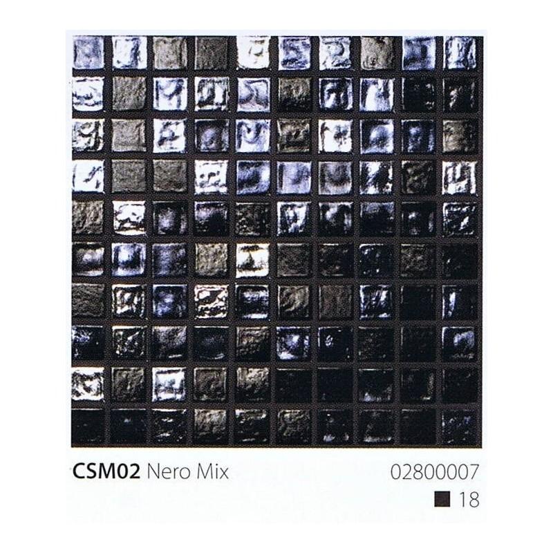 VITREX Skleněná mozaika 2x2cm CSM02 Nero Mix