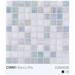 Skleněná mozaika 2x2cm CSM01 Bianco Mix