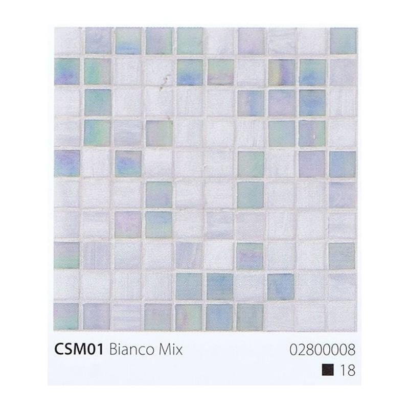 VITREX Skleněná mozaika 2x2cm CSM01 Bianco Mix