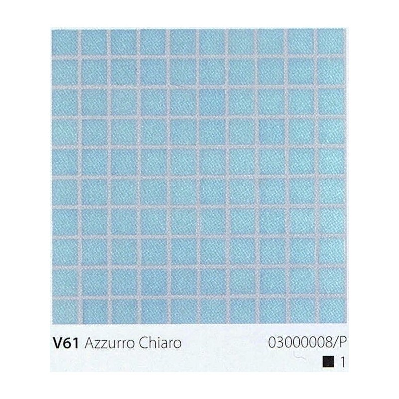 VITREX Skleněná mozaika 2x2cm V61 Azzurro Chiaro