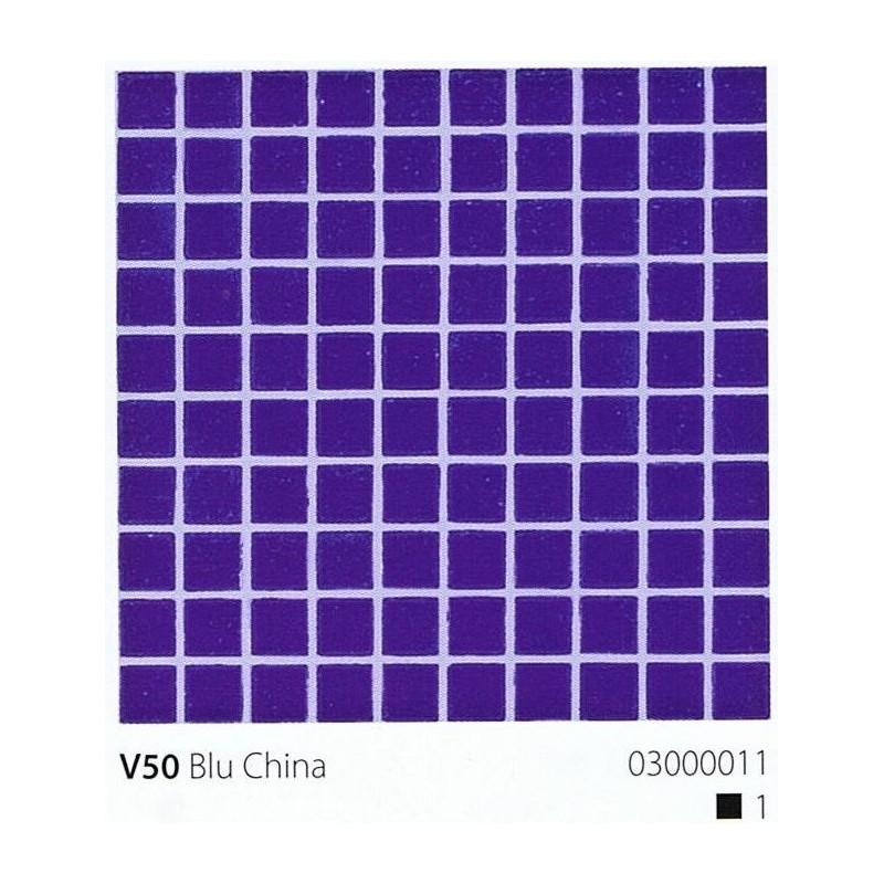 VITREX Skleněná mozaika 2x2cm V50 Blu China