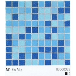 Skleněná mozaika 2x2cm M1 Blu Mix