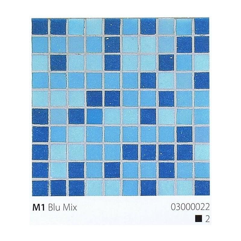 VITREX Skleněná mozaika 2x2cm M1 Blu Mix