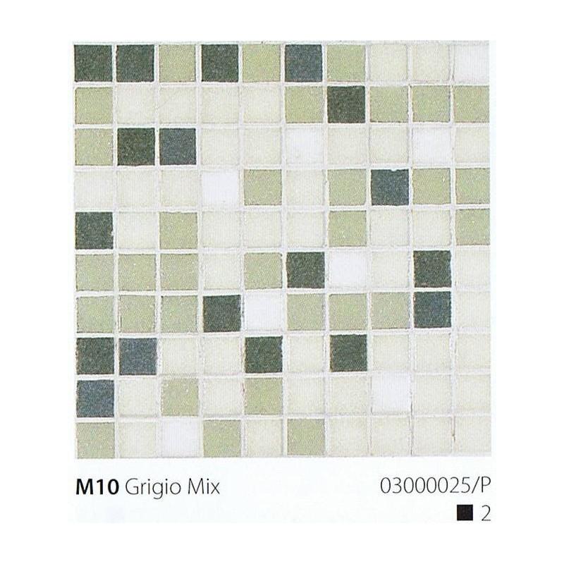 VITREX Skleněná mozaika 2x2cm M10 Grigio Mix