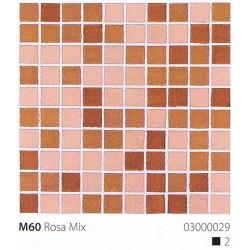 Skleněná mozaika 2x2cm M60 Rosa Mix
