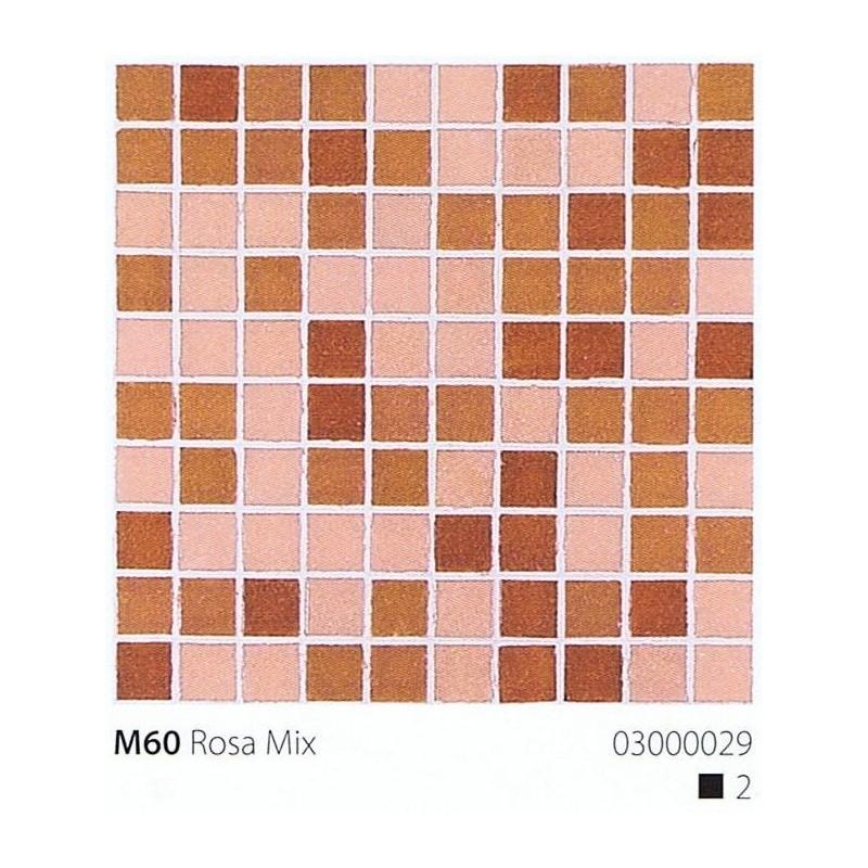 VITREX Skleněná mozaika 2x2cm M60 Rosa Mix
