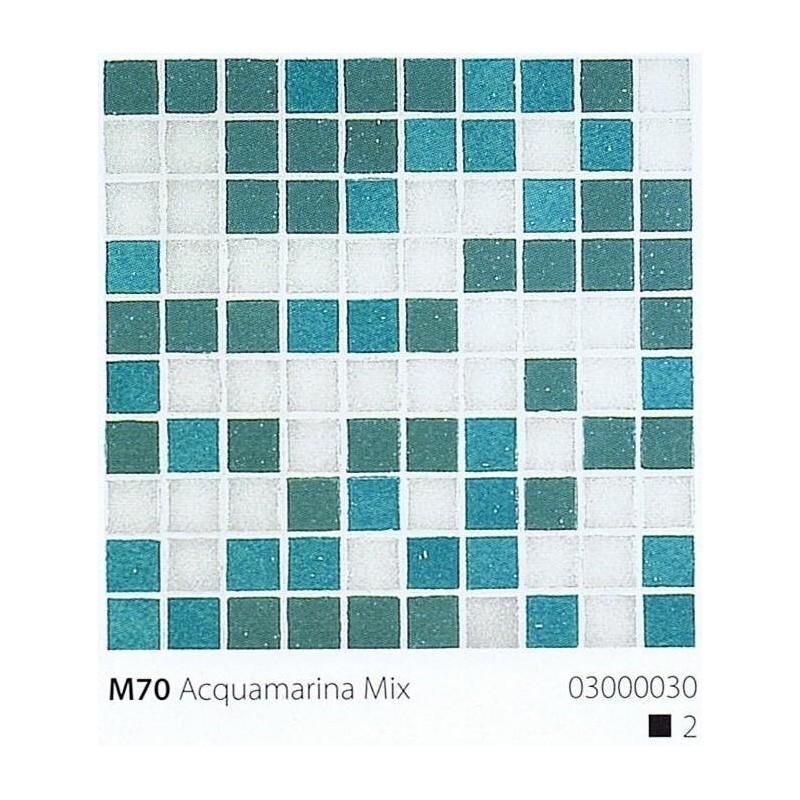 VITREX Skleněná mozaika 2x2cm M70 Acquamarina Mix