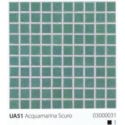 Skleněná mozaika 2x2cm UA51 Aquamarina Scuro