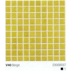 Skleněná mozaika 2x2cm V40 Beige
