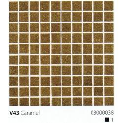 Skleněná mozaika 2x2cm V43 Caramel