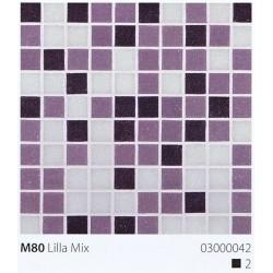Skleněná mozaika 2x2cm M80 Lilla Mix