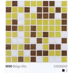 Skleněná mozaika 2x2cm M90 Beige Mix
