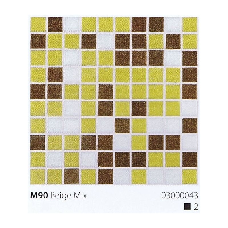 VITREX Skleněná mozaika 2x2cm M90 Beige Mix