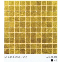 Skleněná mozaika 2x2cm L1 Oro Giallo Liscio