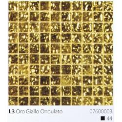 Skleněná mozaika 2x2cm L3 Oro Giallo Ondulato