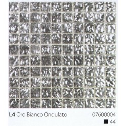 Skleněná mozaika 2x2cm L4 Oro Bianco Ondulato