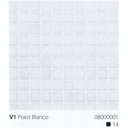 Skleněná mozaika 2x2cm V1 Point Bianco Protiskluzová