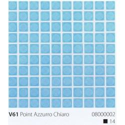 Skleněná mozaika 2x2cm V61 Point Azzurro Chiaro Protiskluzová