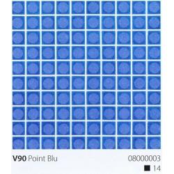Skleněná mozaika 2x2cm V90 Point Blu Protiskluzová