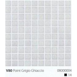 Skleněná mozaika 2x2cm V80 Point Grigio Chiaccio Protiskluzová