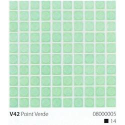 Skleněná mozaika 2x2cm V42 Point Verde Protiskluzová