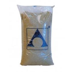 filtrační písek 0,8 - 1,2 mm baleno po 25 kg.