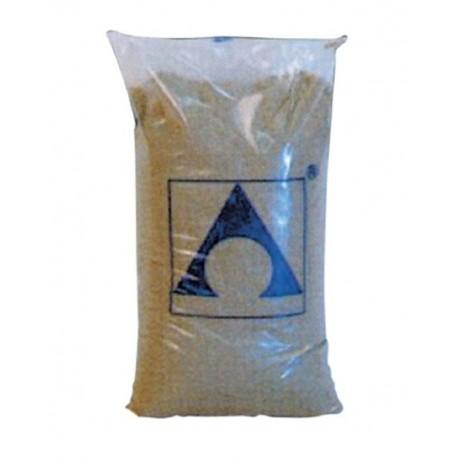 filtrační písek 0,4 - 0,8 mm baleno po 25 kg.