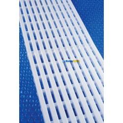 mřížka podélná desková k přelivovému kanálku 195 x 22 - 500 mm