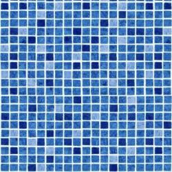 Fólie pro vyvařování bazénů - AVfol Decor - Mozaika Modrá, 1,65m šíře, 1,5mm, metráž