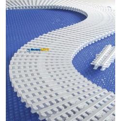 Přelivová mřížka bazénu 245/22 mm rovná/oblouk