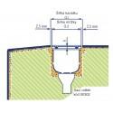 Mřížka příčná k přelivovému kanálku do ohybů 195 x 22 mm