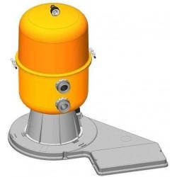 Filtrační zařízení - Dělený Kit 400, 9 m3/h, 230 V, 6-ti cest. boč. ventil, čerp. Preva 50