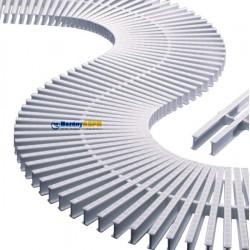 Mřížka příčná pro rovný žlábek i ohyb segmentová rovná