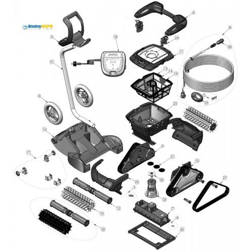 Náhradní díly na robotický vysavač CyclonX 4400 a 4401
